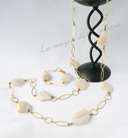 collana lunga in agata
