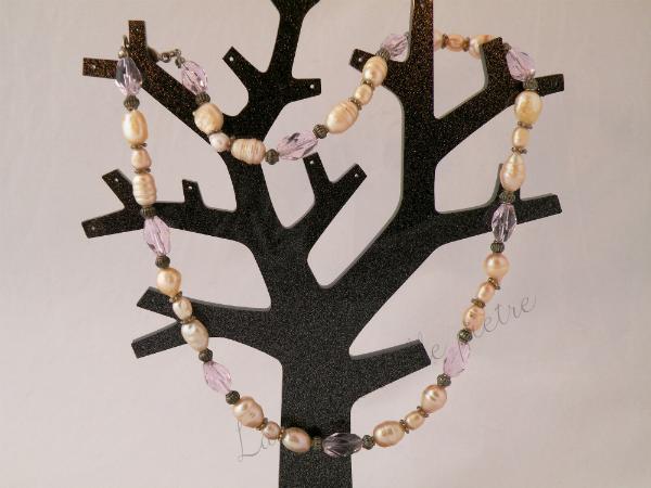 perle e cristalli rosa