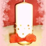 Candele decorate natalizie