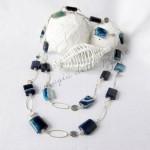 Collana Agata blu