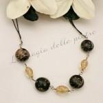 Girocollo in perle di vetro veneziane