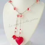 Collana in perle rosse