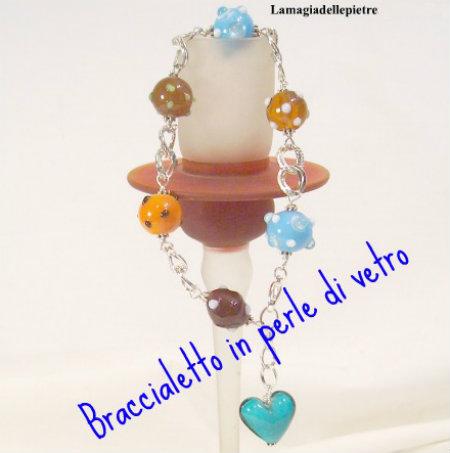 braccialetto in perle di vetro