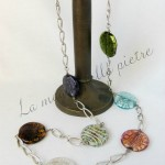 Collana con perle di vetro di Murano