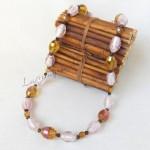 Girocollo perle di vetro veneziano e cristallo