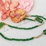 Girocollo in perle di vetro verde