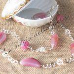 Collana in agata rosa