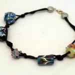 Collana etnica in perle di vetro