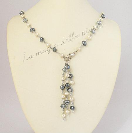 Collana con perle di acqua dolce