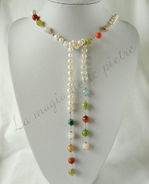 sciarpina perle e agate 1