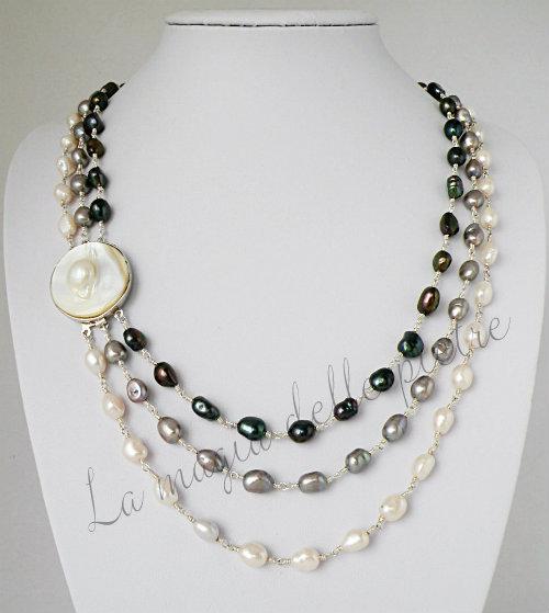 collana con le perle