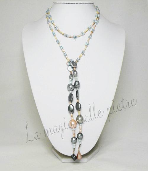 sciarpina in perle