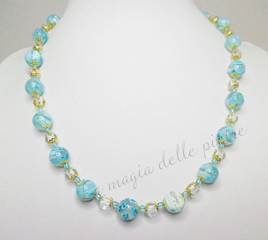 collana in perle millefiori