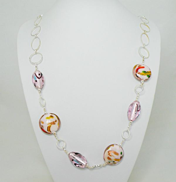 collana con perle veneziane
