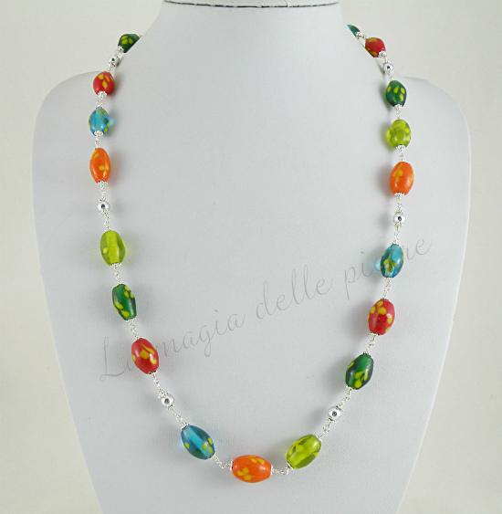 Collana con perle indiane