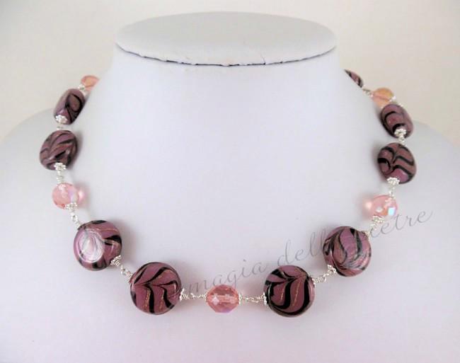 perle di vetro e cristalli